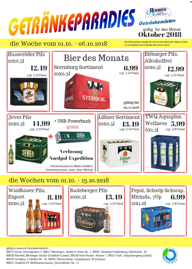 Aktuelles – Rohrer Getränke-Vertrieb GmbH